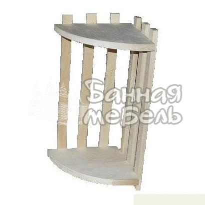 Полки угловые для бани и сауны