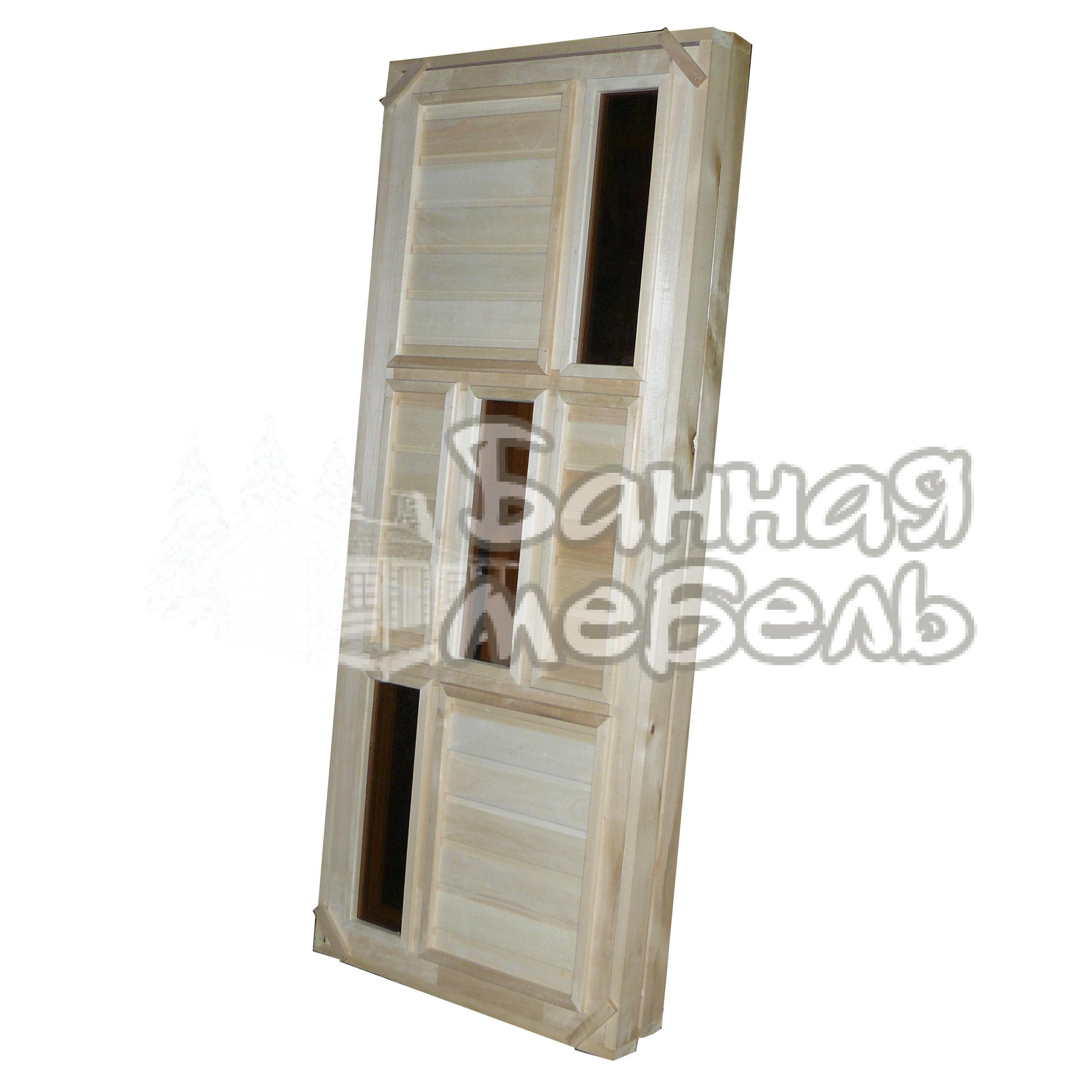 Двери с 3 стеклянными вставками