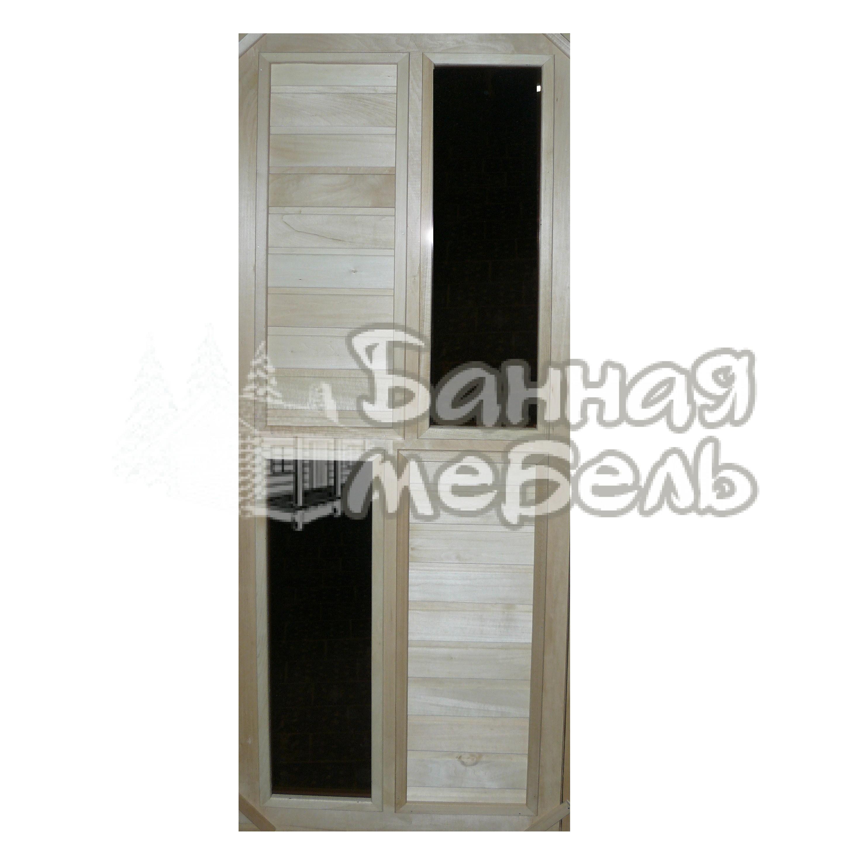 Двери с 2 стеклянными вставками