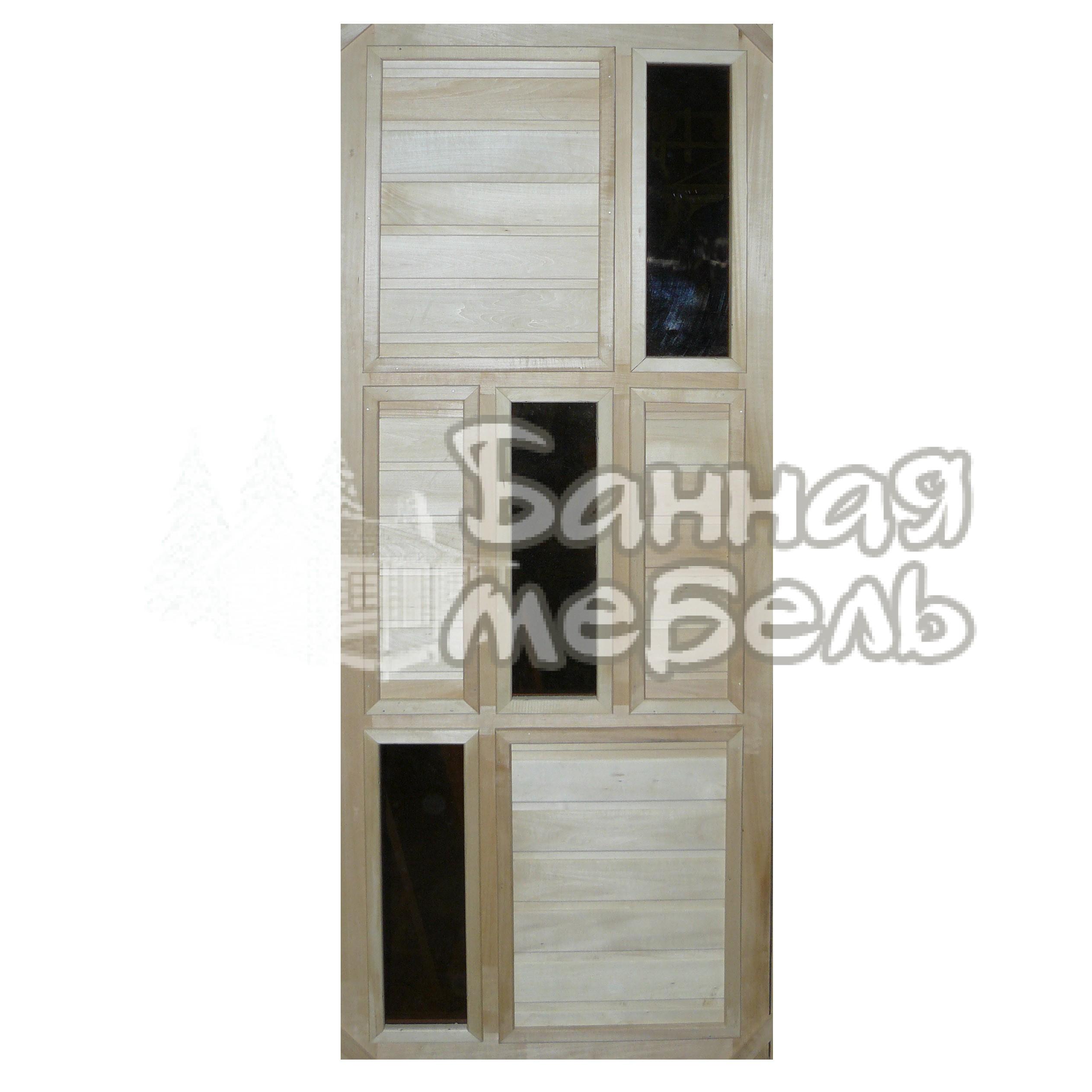 Двери со стеклянной вставкой для бани и сауны